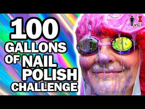 100 Gallons of Nail Polish Ft. SimplyNailogical - Man Vs Pin #100