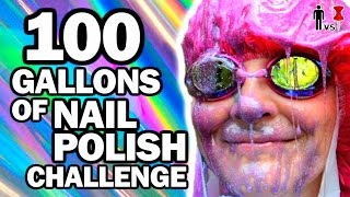 100 Gallons of Nail Polish Ft. SimplyNailogical - Man Vs Pin #100 by : ThreadBanger