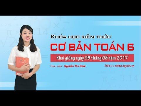 Quy đồng mẫu nhiều phân số và So sánh phân số – Toán học lớp 6 – cô giáo Nguyễn Thu Hoài
