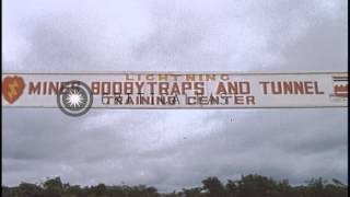 Mines, Booby traps, and tunnel training Center at Cu Chi, South Vietnam. HD Stock Footage