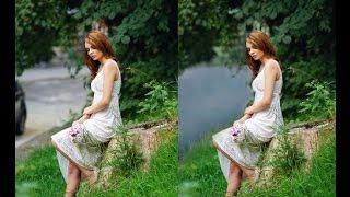 Замена фона в фотошопе или как сделать реку из дороги. Урок фотошопа. Pro Photoshop