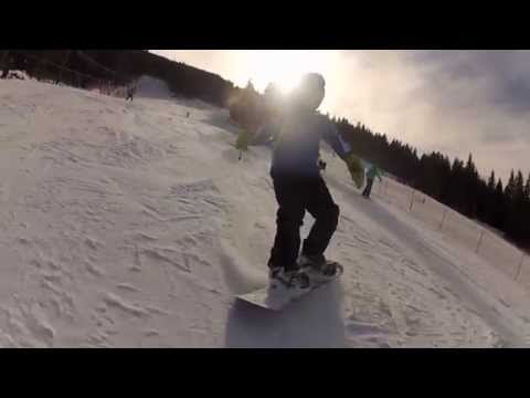 Snowboarding with Darius - 8 years old