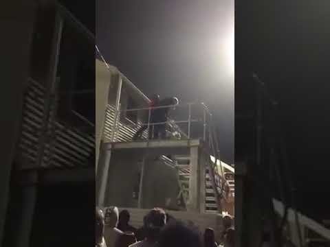 Racial hatred in South Africa: event at the University campus stadium in PE during a football match