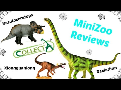 Collecta 2015 Dinosaurs - Nasutoceratops, Xiongguanlong and Daxiatitan