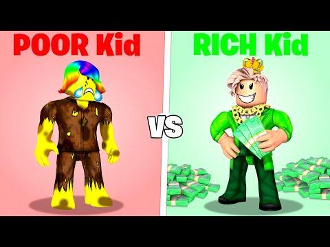 ROBLOX Poor Kid vs Rich Kid.. 🥺🤑