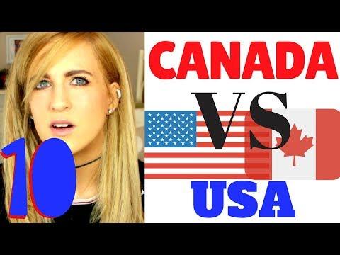 USA Vs Canada  Comparing 10 random things