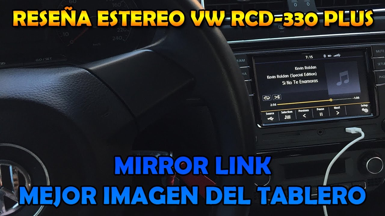 est reo vw rcd 330 plus rese a vento polo jetta mirrorlink youtube. Black Bedroom Furniture Sets. Home Design Ideas