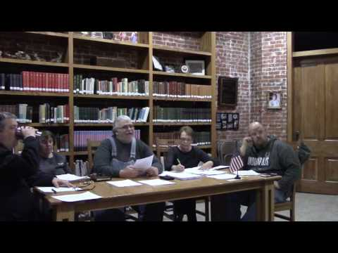 Camden Town Council Meeting February 16, 2017