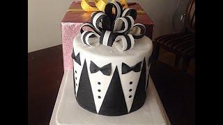 видео Свадебный торт черно белый