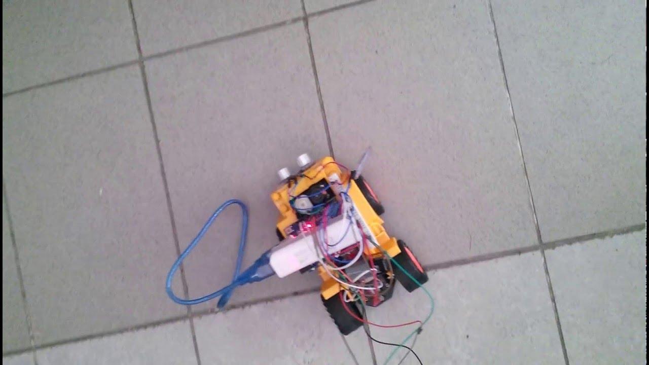 Arduino çarpmayan robot bluetooth kontrolü youtube