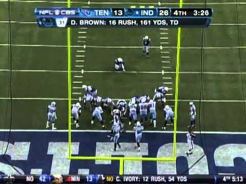 Colts: Donald Brown 80yd TD
