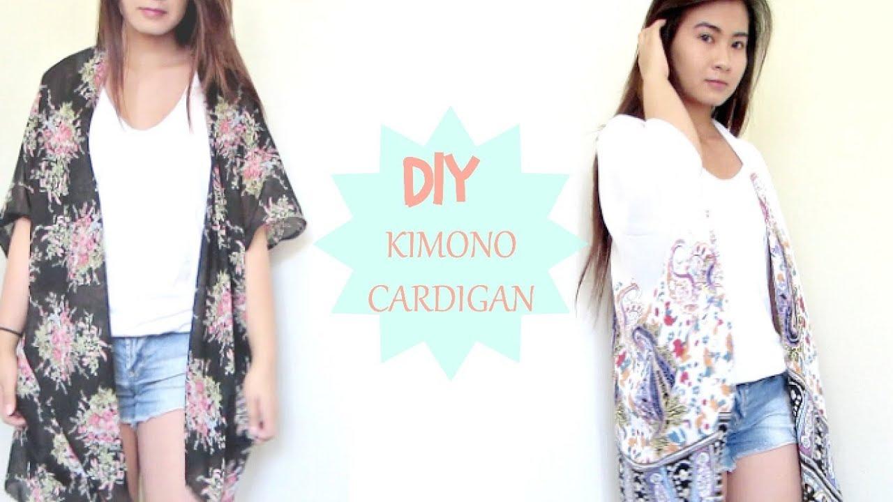 DIY: Kimono Cardigan!!! - YouTube