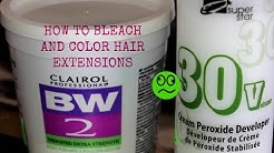 How To: Bleach And Color Afro Textured Clip In Hair Extensions
