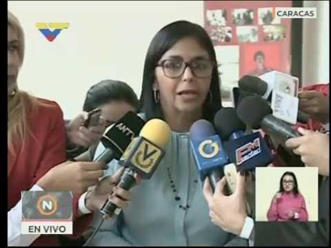 Delcy Rodríguez sobre aprobación de Ley contra el Odio y por la Convivencia Pacífica