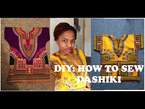 DIY: DASHIKI PRINT TOP WITH POCKETS....ANKARA  IN 4 MINS