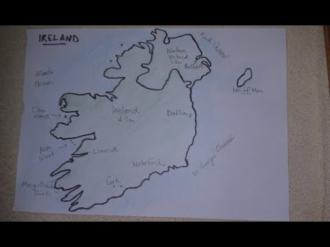 ASMR - Map Of Ireland - Australian Accent - Chewing Gum & Describing In A Quiet Whisper