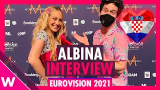 "Albina ""Tick-Tock"" (Croatia) Interview @ Eurovision 2021 second rehearsal"