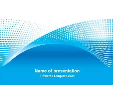Abstract Powerpoint Template | Folded Ribbon Abstract Powerpoint Template By Poweredtemplate Com