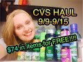 CVS HAUL 9/9/18-9/15/18 ~ $74 in products for FREE!!!!!