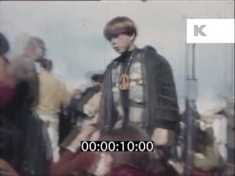 1968 Anti Vietnam Peace Protest, San Francisco, Color Footage