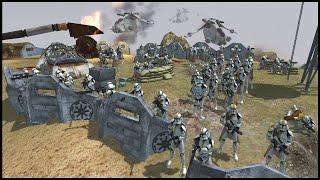 Fortress Hill Defenses of Utapau! - Men of War: Star Wars Mod Battle Simulator