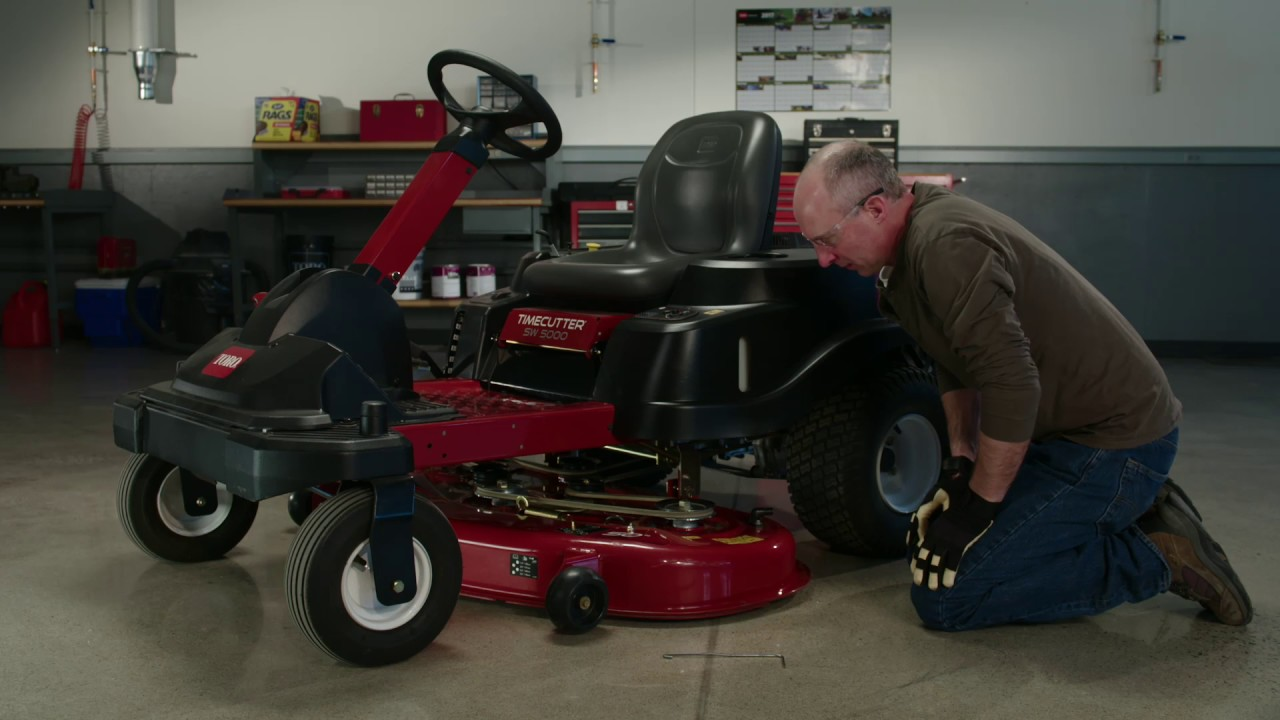 how to check the belts on your toro zero turn mower