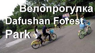 Велопрогулка в Парке Dafushan Forest Park Guangzhou.