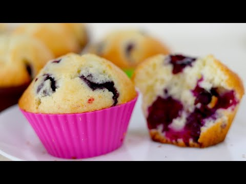 How To Make Blueberry Muffins/Basic Blueberry Muffins Recipe--Cooking A Dream