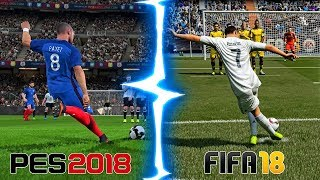 FIFA 18 vs PES 2018: BEST FREE KICK GOALS!