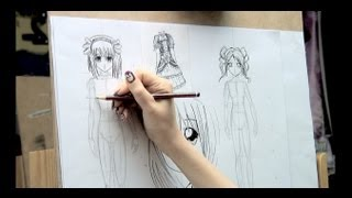 Como dibujar Manga 8 (Cuerpo completo)  How to draw Manga Bodies