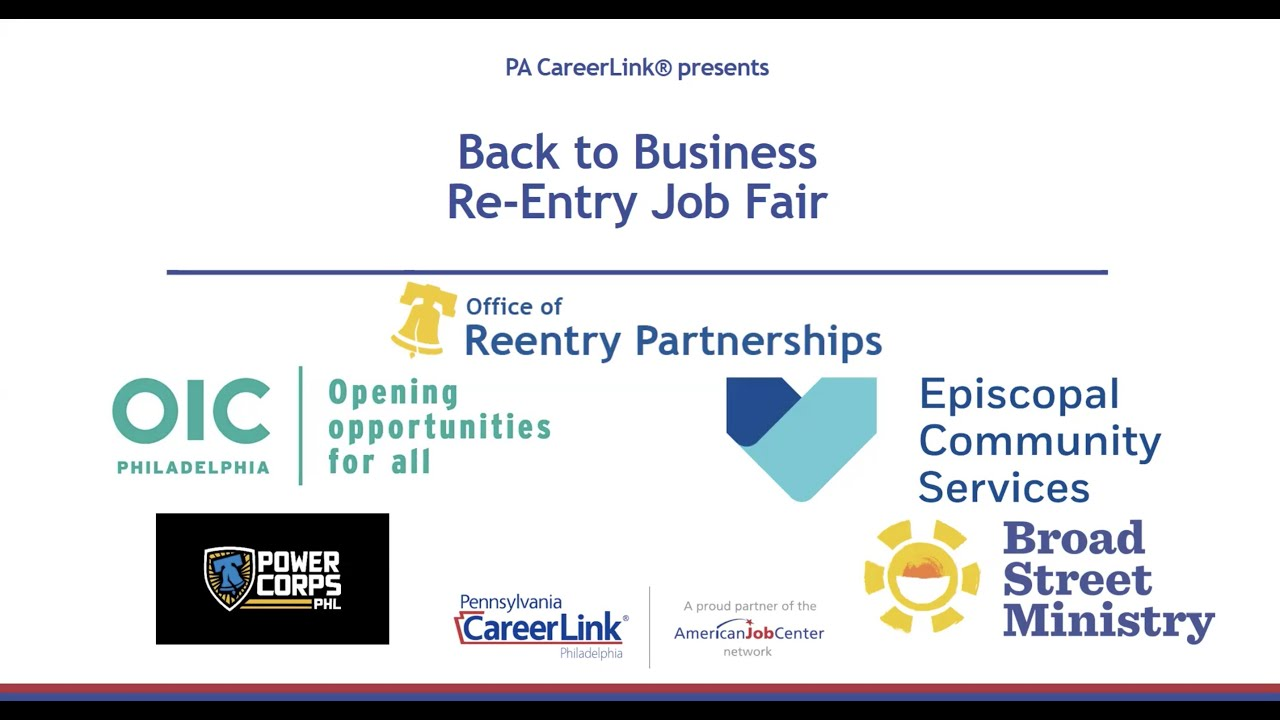Watch Recording of PA CareerLink's Reentry Job Fair: 2-10-21