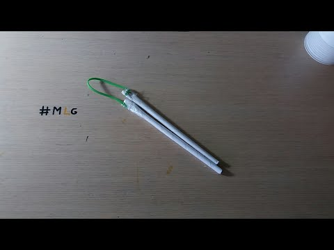How to make nunchucks out of paper! EASY!