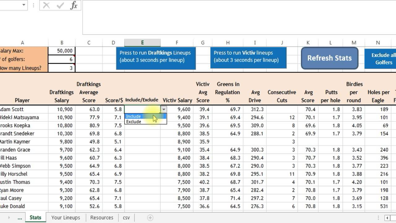daily spreadsheet