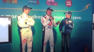 BTCC Knockhill 2014 Driver Q&A - Jason Plato & Sam Tordoff at the Tesco Filling Station