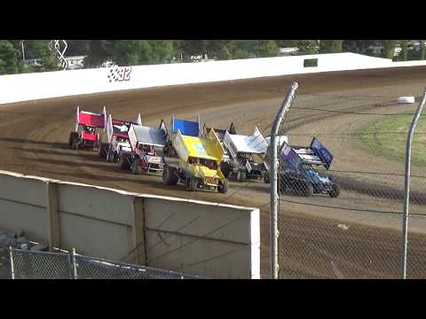 Grays Harbor Raceway, 2017 Fred Brownfield Classic, Night 1, ASCS National Heats 1,2,3,4 and 5