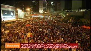 Hong Kong Protesters Defiant on China's National Day