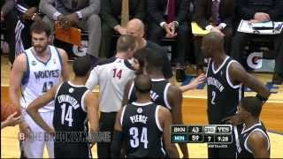 kevin garnett gets t d up for scuffle w kevin love