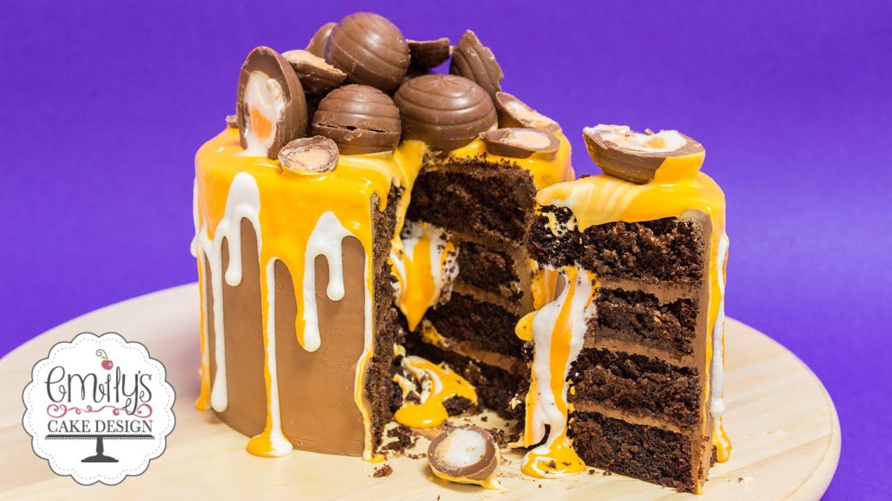 Cake With Cream Eggs : Creme Egg Cake Tutorial - YouTube