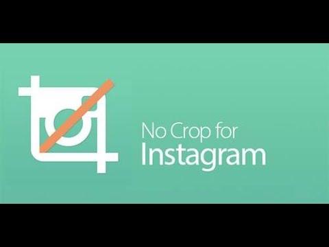 Aplicación No Crop para instagram