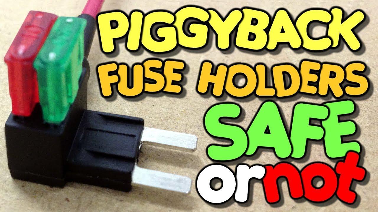 hight resolution of piggyback fuse holders safe or not a piggyback bench test by vog vegoilguy