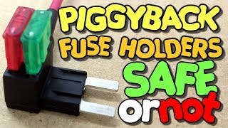 Piggyback Fuse Holders� Are they safe to use on your vehicle? A Piggyback bench test - VegOilGuy