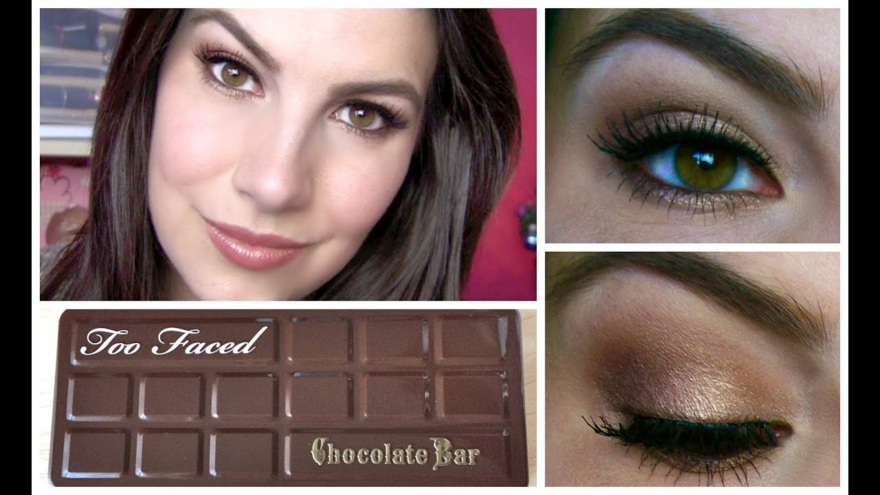 Too faced chocolate bar palette tutorial youtube too faced chocolate bar palette tutorial baditri Images