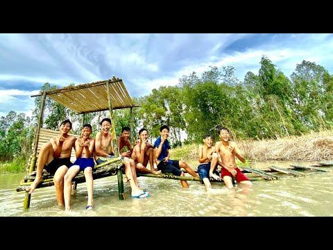Anh Ba Phải | Làm Nhà Sàn Bằng Tre Giữa Hồ – Căn Cứ Của Team | Bamboo Stilt House