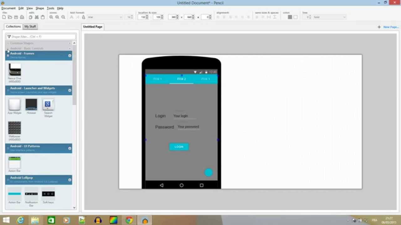 How to make screen wireframes for Android Lollipop with Pencils ...