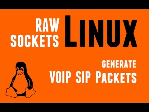 Linux RAW Sockets - Generate VoIP SIP Packets