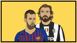 Andrea Pirlo v Sergio Busquets: The Deep Lying Midfielder