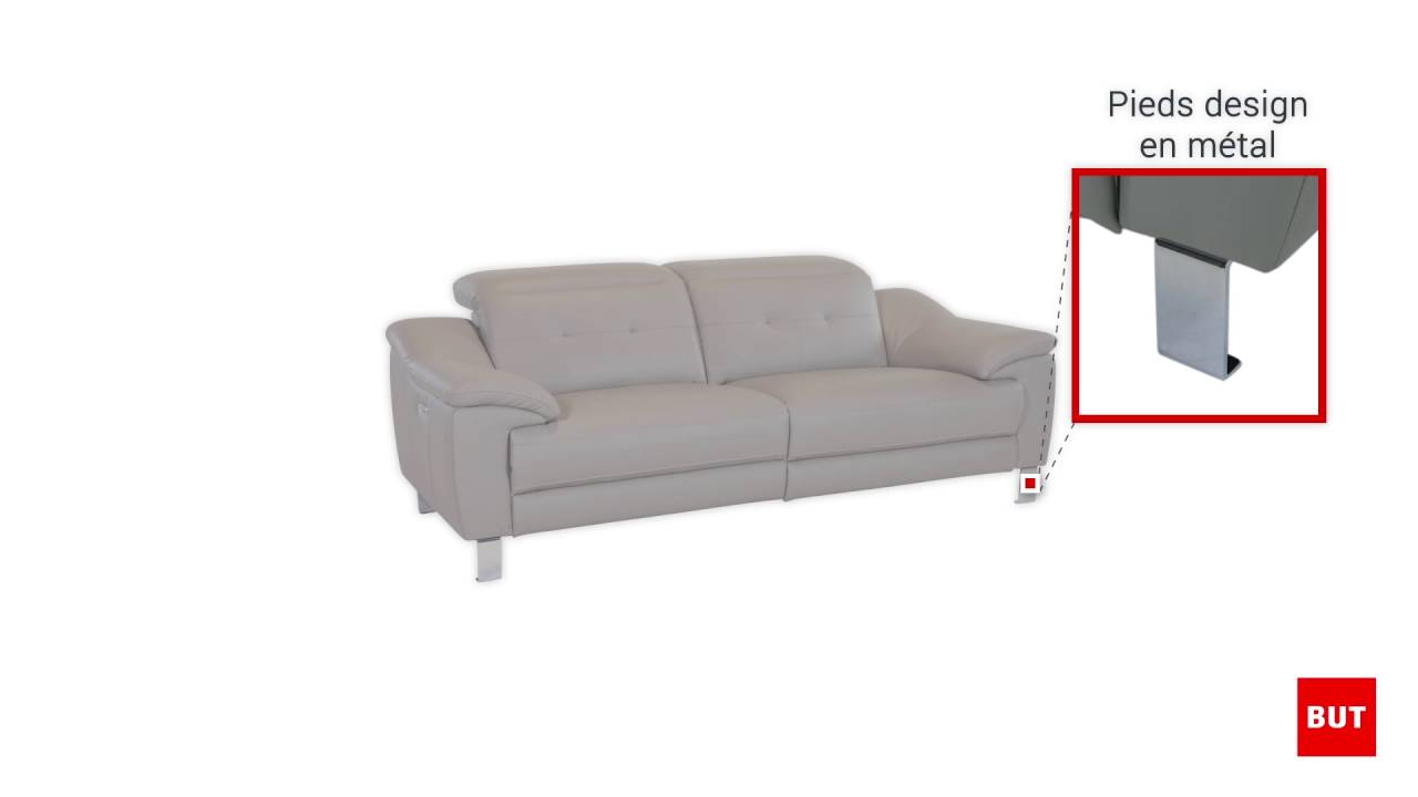 rialto sofa bed leather corner beds ireland canape 3 places 2 relax electrique but youtube