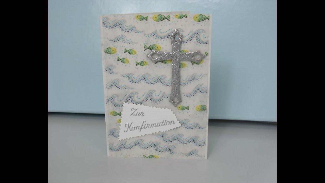 Diy Schnelle Karte Zur Kommunion Taufe Konfirmation Basteln Cardmaking Deutsch
