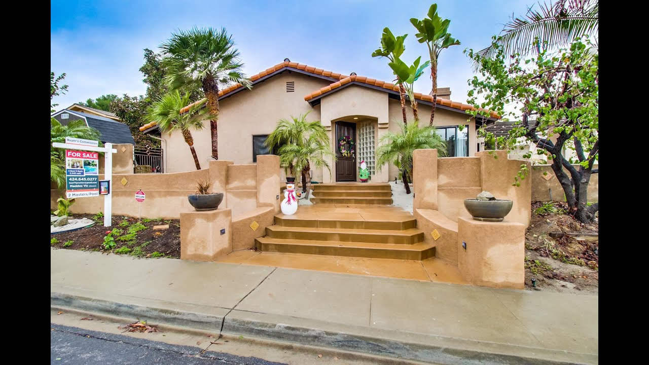 New video 10506 el comal drive tierrasanta san diego home for sale 4 bedroom 3 baths youtube for 4 bedroom house for sale san diego