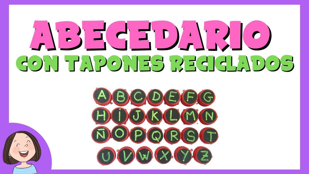 Abecedario Con Tapones Reciclados Juego Educativo Para Ninos Youtube